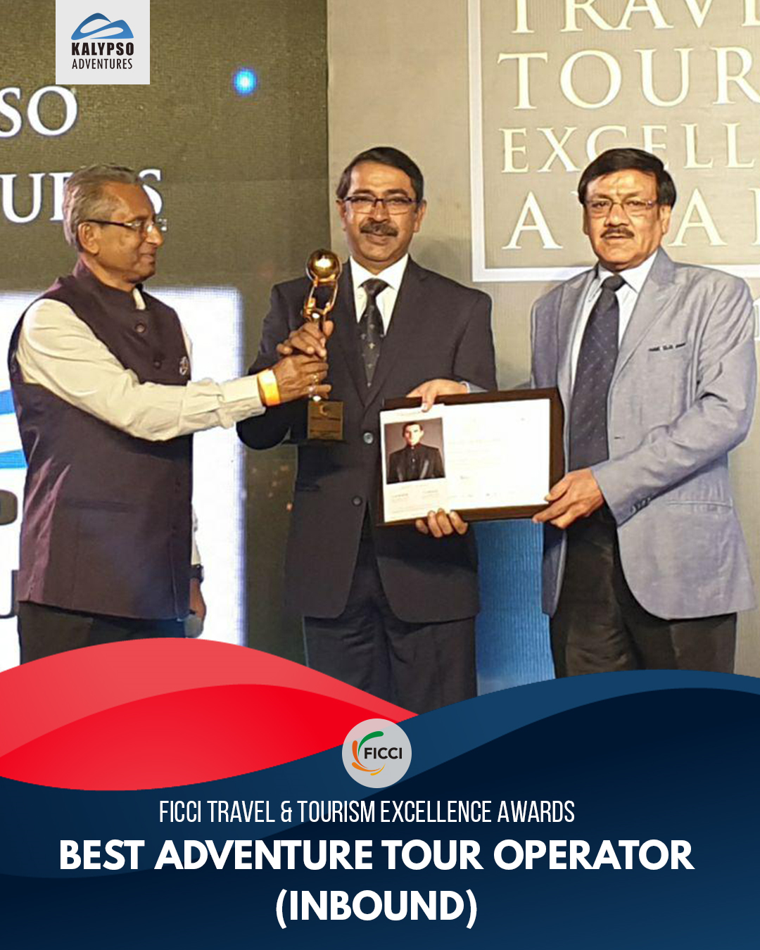 Best Adventure Tour Operator Inbound- FICCI Travel & Tourism Excellence Awards