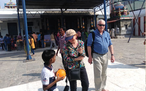 Judith and Dave during Chennai sightseeing!